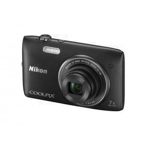 Фото Цифровые фотоаппараты Nikon Coolpix S3500 Black