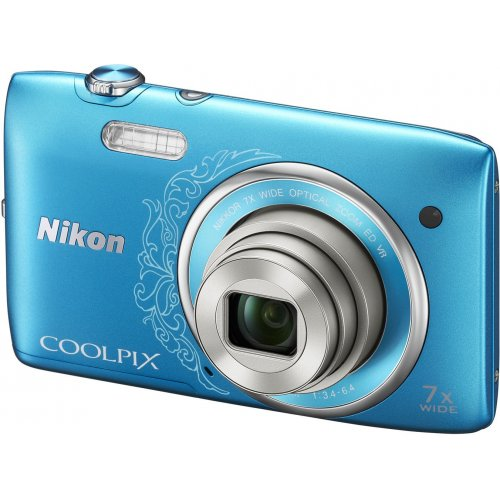 Фото Цифровые фотоаппараты Nikon Coolpix S3500 Blue