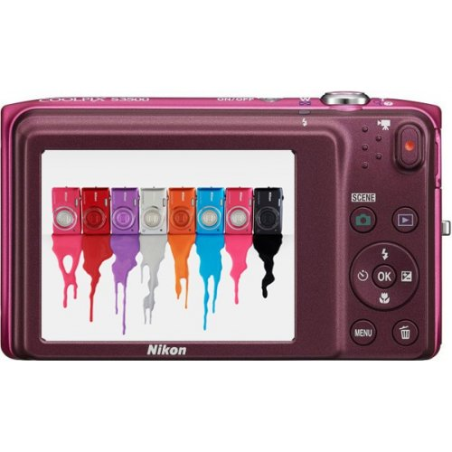 Фото Цифровые фотоаппараты Nikon Coolpix S3500 Rose