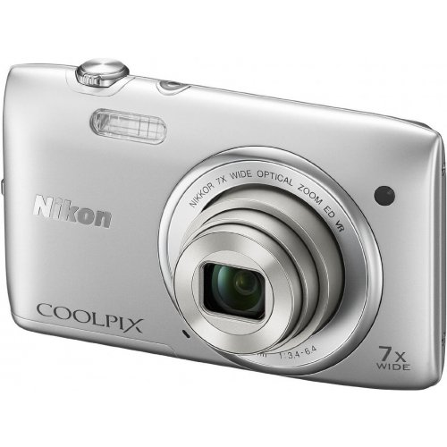 Фото Цифровые фотоаппараты Nikon Coolpix S3500 Silver