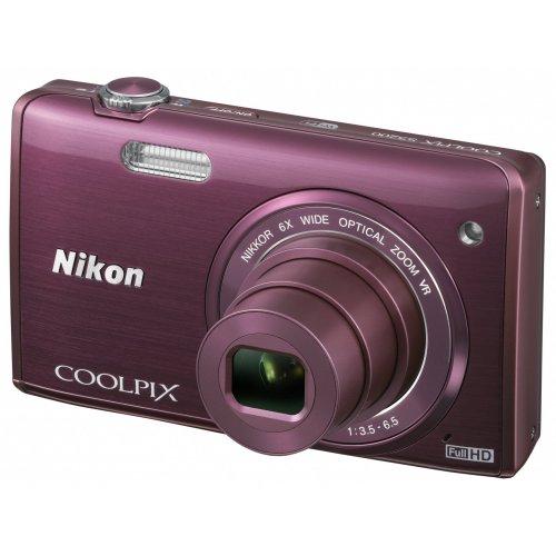 Фото Цифровые фотоаппараты Nikon Coolpix S5200 Purple