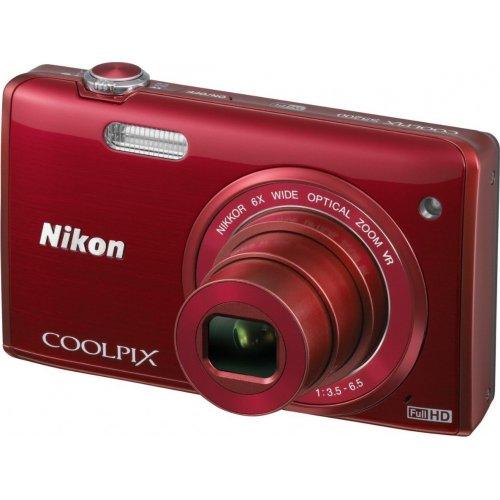 Фото Цифровые фотоаппараты Nikon Coolpix S5200 Red