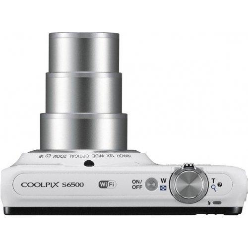 Фото Цифровые фотоаппараты Nikon Coolpix S6500 White