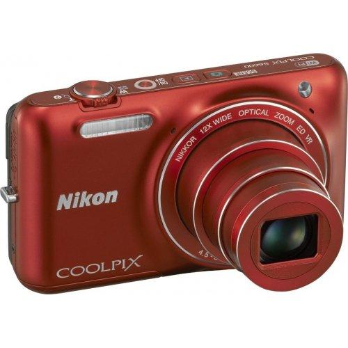 Фото Цифровые фотоаппараты Nikon Coolpix S6600 Red