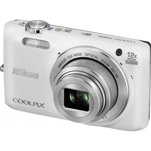 Фото Цифровые фотоаппараты Nikon Coolpix S6800 White