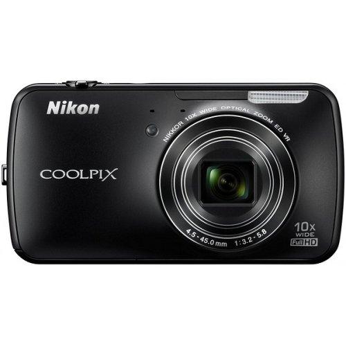 Фото Цифровые фотоаппараты Nikon Coolpix S800c Black