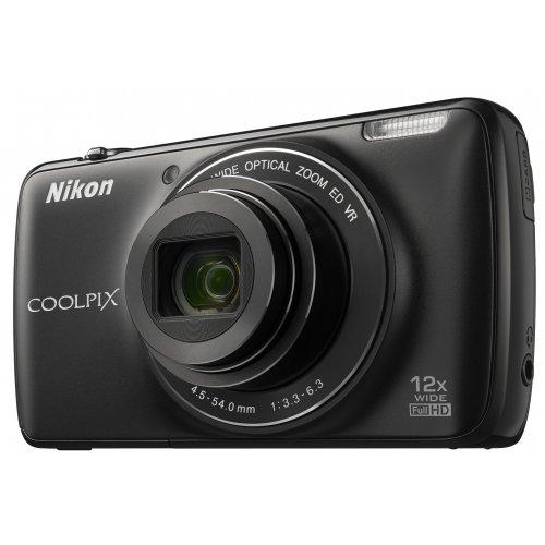 Фото Цифровые фотоаппараты Nikon Coolpix S810c Black