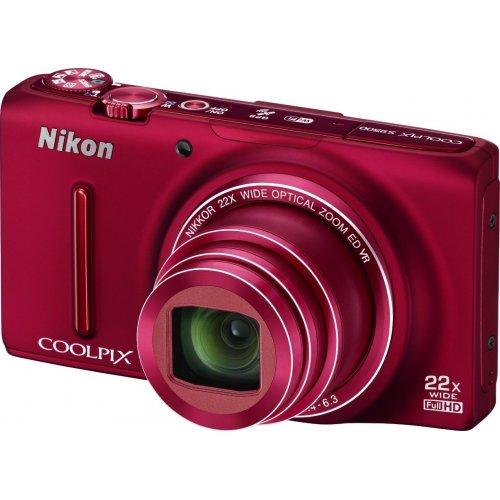 Фото Цифровые фотоаппараты Nikon Coolpix S9500 Red
