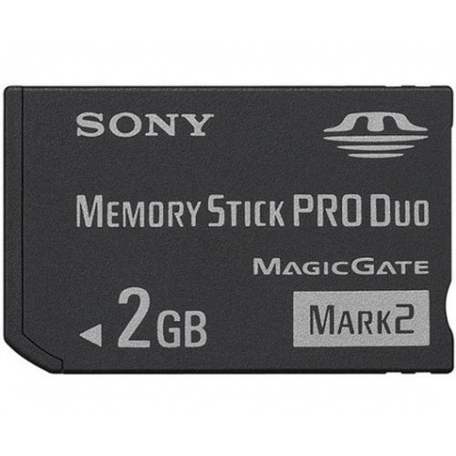 Фото Карта памяти Sony Memory Stick PRO Duo 2GB (MSMT2GN)