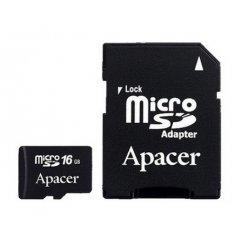 Фото Карта памяти Apacer microSDHC 16GB Class 4 (с адаптером) (AP16GMCSH4-R)