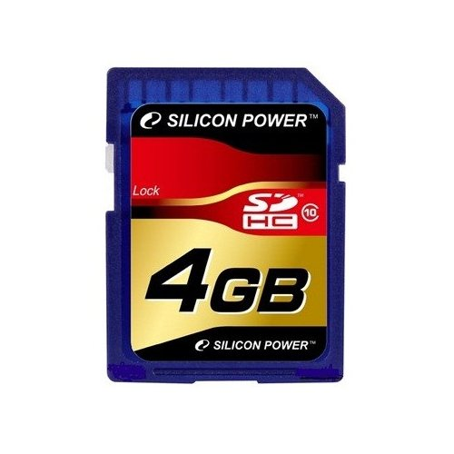 Фото Карта памяти Silicon Power SDHC 4GB Class 10 (SP004GBSDH010V10)