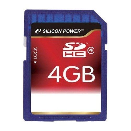 Фото Карта памяти Silicon Power SDHC 4GB Class 4 (SP004GBSDH004V10)