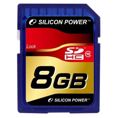 Фото Карта памяти Silicon Power SDHC 8GB Class 10 (SP008GBSDH010V10)