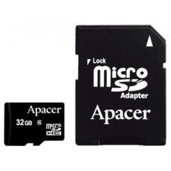 Фото Карта памяти Apacer microSDHC 32GB Class 4 (с адаптером) (AP32GMCSH4-R)
