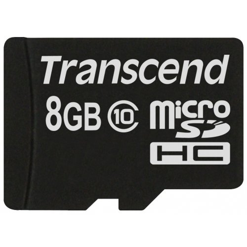 Фото Карта памяти Transcend microSDHC 8GB Class 10 (без адаптера) (TS8GUSDC10)