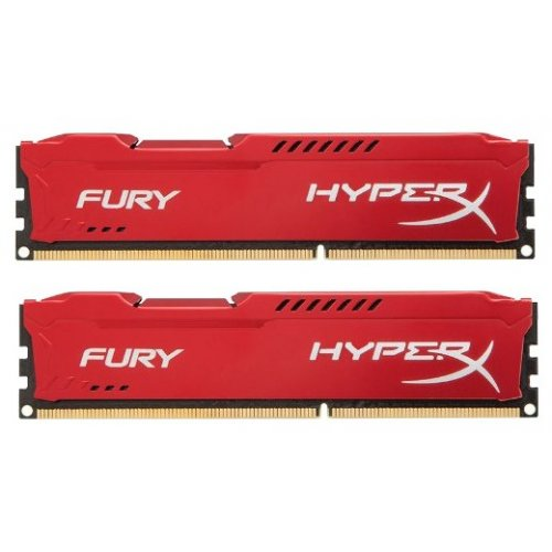 Фото ОЗУ Kingston DDR3 16GB (2x8GB) 1866MHz HyperX FURY Red (HX318C10FRK2/16)