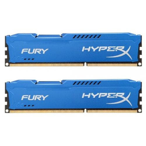 Фото ОЗУ Kingston DDR3 8GB (2x4GB) 1600MHz HyperX FURY Blue (HX316C10FK2/8)