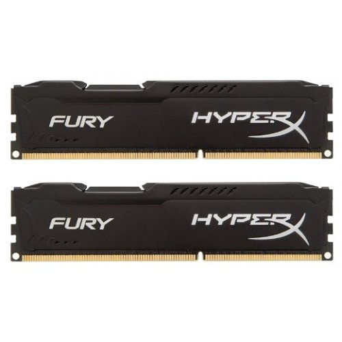 Фото ОЗУ Kingston DDR3 8GB (2x4GB) 1866MHz HyperX FURY Black (HX318C10FBK2/8)