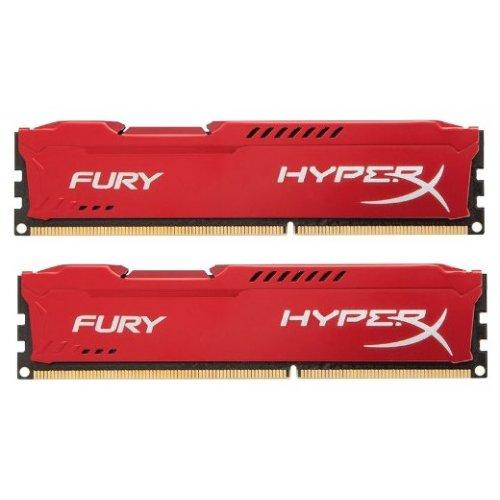 Фото ОЗУ Kingston DDR3 8GB (2x4GB) 1866MHz HyperX FURY Red (HX318C10FRK2/8)