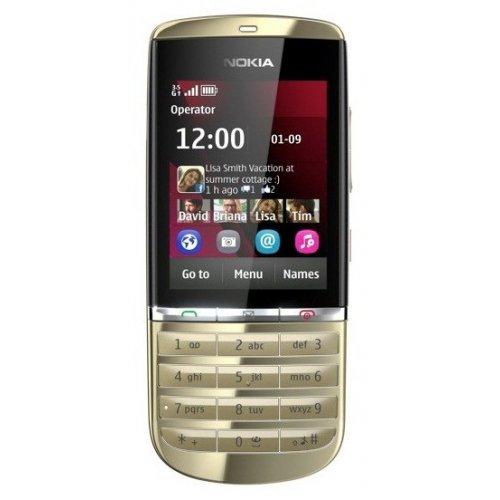 Фото Мобильный телефон Nokia Asha 300 Light Gold