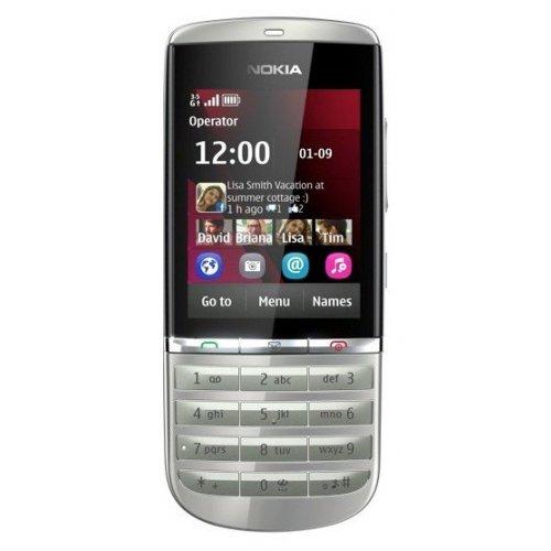 Фото Мобильный телефон Nokia Asha 300 Silver White