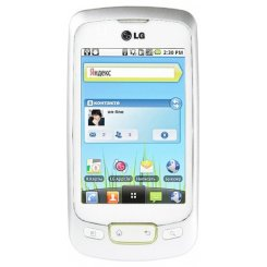 Фото Смартфон LG P500 Optimus One White Gold