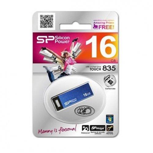 Фото Накопитель Silicon Power Touch 835 16GB Blue (SP016GBUF2835V1B)