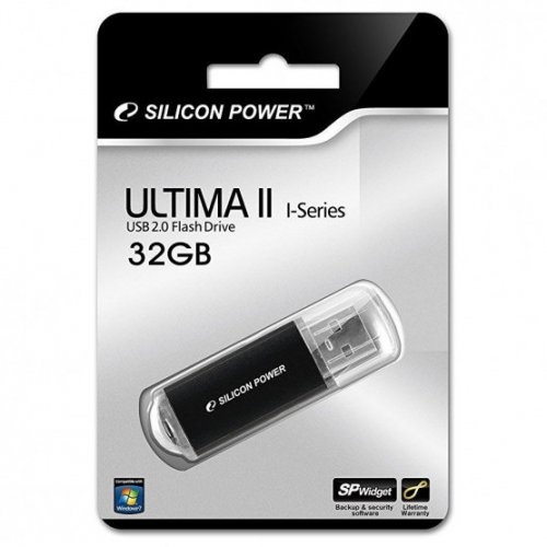 Фото Накопитель Silicon Power Ultima II I-series 32GB Black (SP032GBUF2M01V1K)