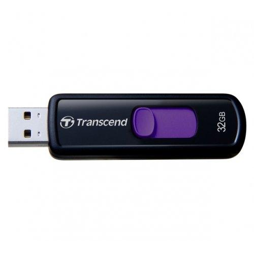 Фото Накопитель Transcend JetFlash 500 32GB Black (TS32GJF500)