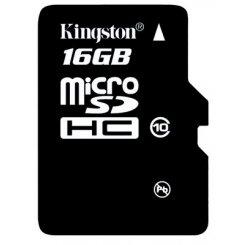 Фото Карта памяти Kingston microSDHC 16GB Class 10 (без адаптера) (SDC10/16GBSP)