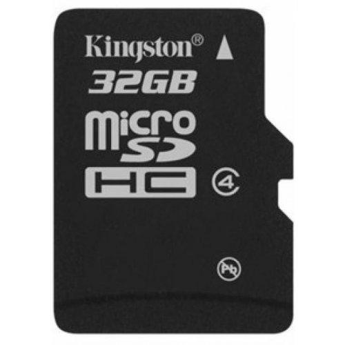 Фото Карта памяти Kingston microSDHC 32GB Class 4 (без адаптера) (SDC4/32GBSP)