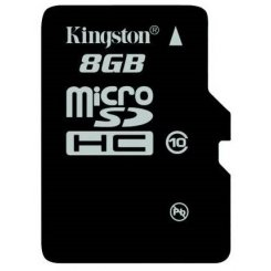 Фото Карта памяти Kingston microSDHC 8GB Class 10 (без адаптера) (SDC10/8GBSP)