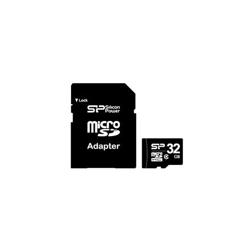 Фото Карта памяти Silicon Power microSDHC 32GB Class 4 (без адаптера) (SP032GBSTH004V10)