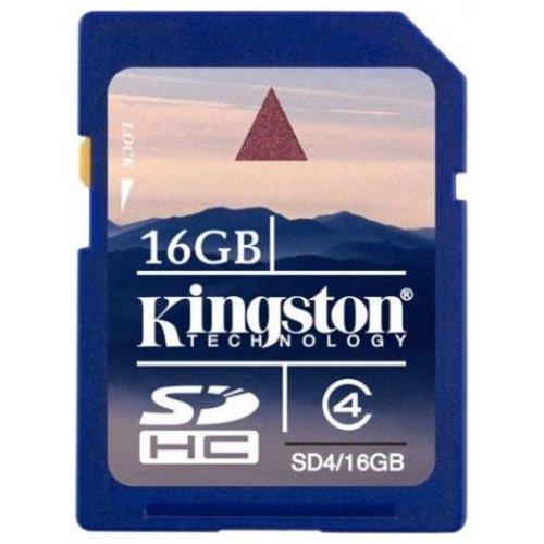 Фото Карта памяти Kingston SDHC 16GB Class 4 (SD4/16GB)