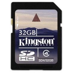 Фото Карта памяти Kingston SDHC 32GB Class 4 (SD4/32GB)
