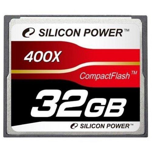 Фото Карта памяти Silicon Power CF 32GB (400x) (SP032GBCFC400V10)