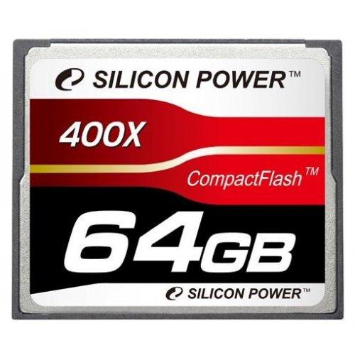 Фото Карта памяти Silicon Power CF 64GB (400x) (SP064GBCFC400V10)