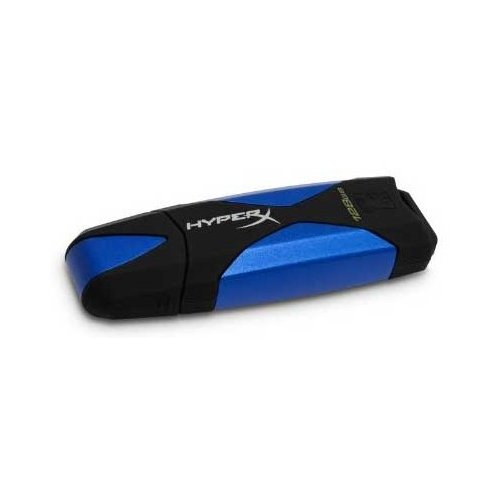 Фото Накопитель Kingston DataTraveler HyperX USB 3.0 128GB Black-Blue (DTHX30/128GB)