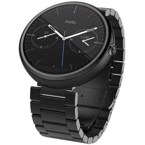 Фото Умные часы Motorola Moto 360 Stainless Steel with Dark Finish Black