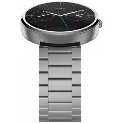Фото Умные часы Motorola Moto 360 Stainless Steel with Light Finish Natural