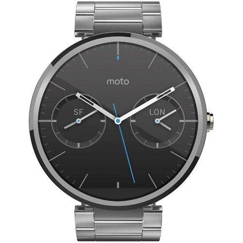 Фото Умные часы Motorola Moto 360 Stainless Steel with Light Finish Natural