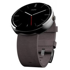 Фото Умные часы Motorola Moto 360 Stone Leather Natural