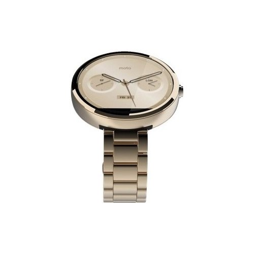 Фото Умные часы Motorola Moto 360 Stainless Steel with Champagne Gold Finish Slim Band Champagne Metal