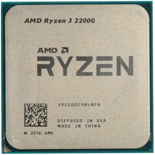 Фото Процессор AMD Ryzen 3 2200G 3.5(3.7)GHz sAM4 Tray (YD220BC5M4MFB)