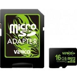 Фото Карта памяти Verico microSDHC 16GB Class 10 (с адаптером) (VFE3-16G-V1E)