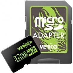 Фото Карта памяти Verico microSDHC 32GB Class 10 (с адаптером) (VFE3-32G-V1E)