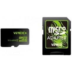 Фото Карта памяти Verico microSDHC 16GB Class 4 (с адаптером) (VFE1-16G-V1E)