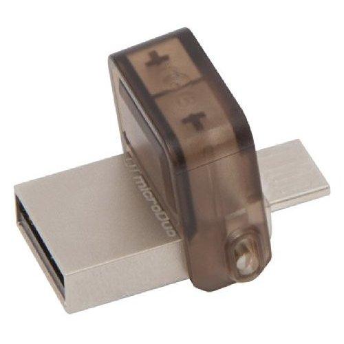 Фото Накопитель Kingston DataTraveler MicroDuo USB 2.0/MicroUSB 16GB Beige (DTDUO/16GB)