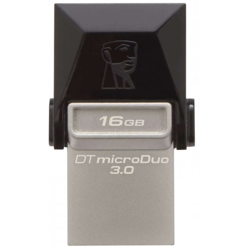 Фото Накопитель Kingston DataTraveler MicroDuo USB 3.0/MicroUSB 16GB Grey (DTDUO3/16GB)