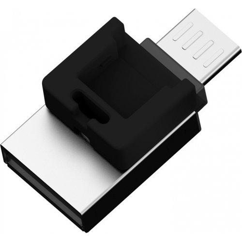 Фото Накопитель Silicon Power Mobile X20 USB 2.0/MicroUSB 16GB Black (SP016GBUF2X20V1K)